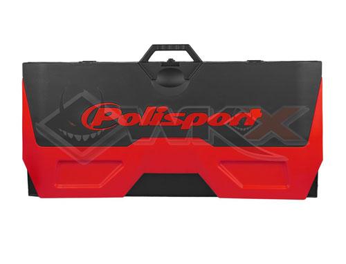 Tapis paddock enviornnemental rouge pour dirt bike, pit bike et mini moto