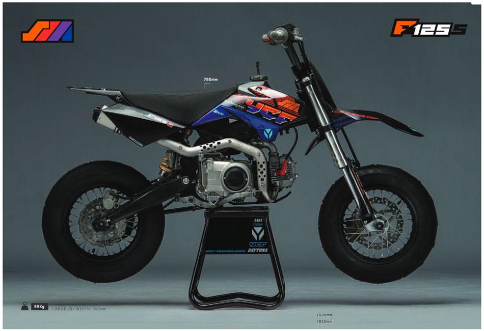 pit bike ycf sm f125s dirt bike125 supermotard ycf mini. Black Bedroom Furniture Sets. Home Design Ideas