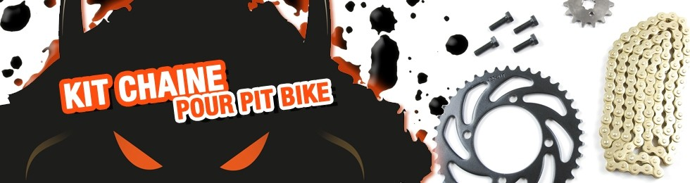 Piece Kit chaine Pit Bike et Dirt Bike
